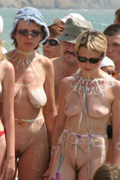 Nudists celebrating event