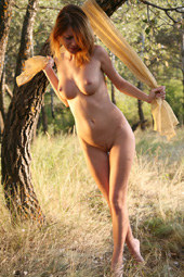 Nice naturist in the forest