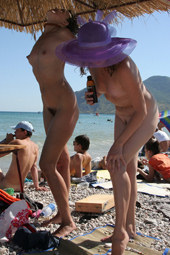 Real nudists crowd