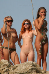 Nude beach nudists people