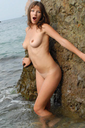 Young hairy pussy young girl nude at the rocks