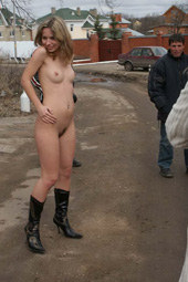 Hairy beaver girl nude in public