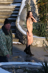 Simeiz aquapark public nudity hairy pussy chick at the winter