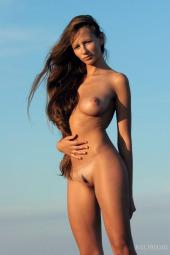 Sexy busty naturist nudity freedom
