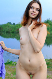 Naturist at the lake