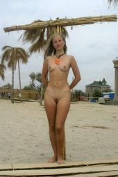 Beach nude teen babe