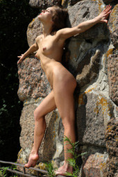 Beautiful girl outdoor nudity