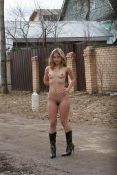 Hairy beaver girl nude in public