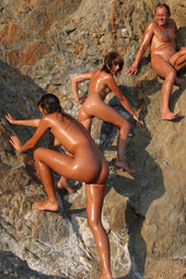 Naturists at the rocks