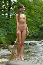 Net fishing nudist