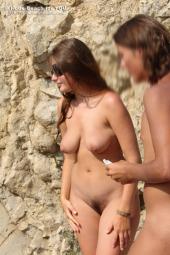 Nude beach girls sexy poses