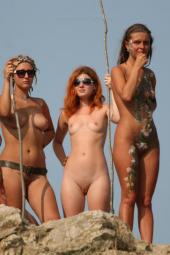 Nude beach nudists people