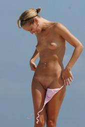 Nude girl on the beach
