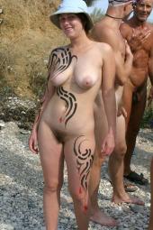 Nudists celebrating event