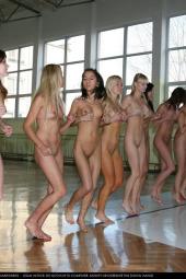 Nudists indoor sports