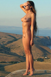 Sexy busty naturist nudity freedom