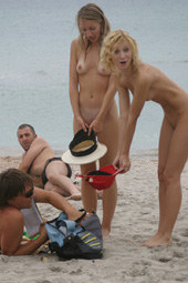 Young nude chicks at the beach